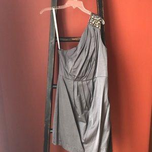 Shoshanna one shouldered jeweled dress